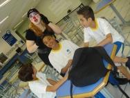 Sombra com alunos